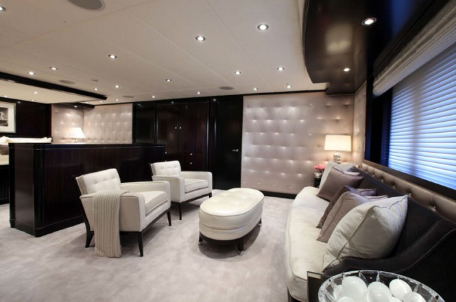 Superyacht Carpe Diem. Master Lounge