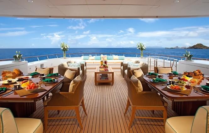 Rest and rejuvenation aboard superyacht Lady Britt