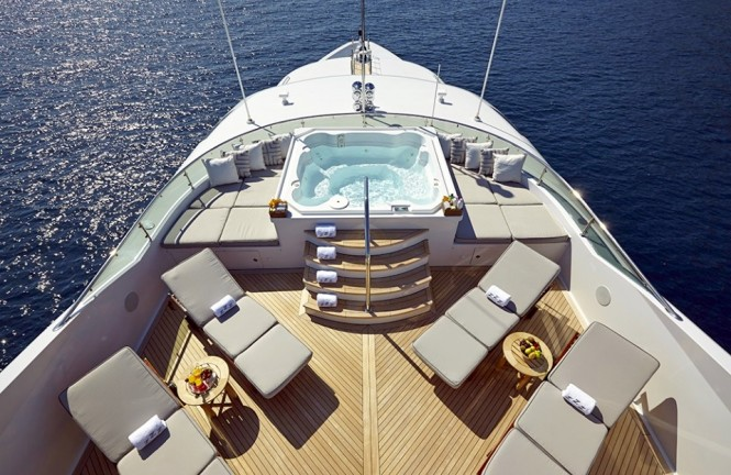 You won't miss the winter chill aboard luxury  yacht ZOOM ZOOM ZOOM