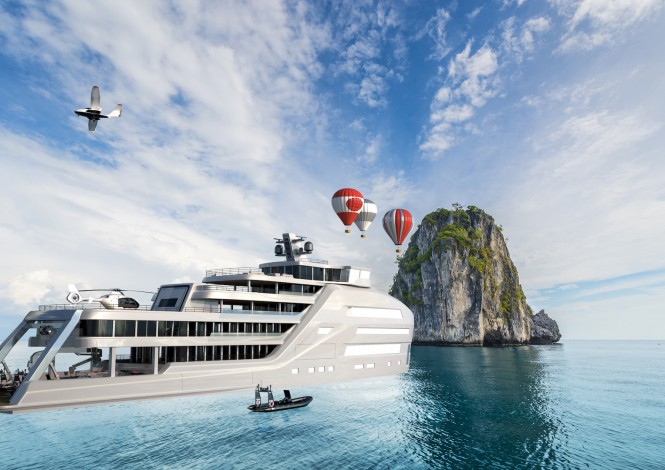 90m Explorer Taboo and water toys