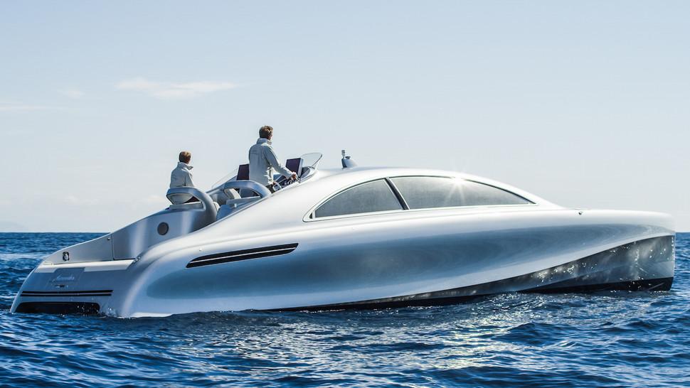 Mercedes Benz Silver Arrow >> 14m Granturismo boat by Mercedes-Benz Style and Silver Arrows Marine — Yacht Charter ...