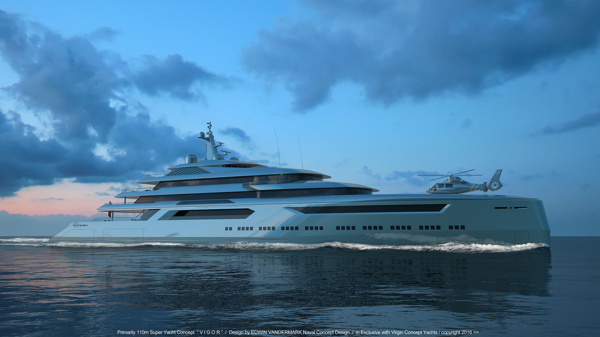 110m explorer yacht concept from Virgin Concept Yachts ...