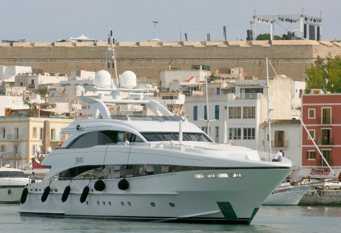 Jems yacht. Photo courtesy of Javier Ortega Figueiral