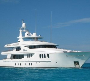 Superyacht Allegria available for charter in the Bahamas this spring and the West Mediterranean this summer