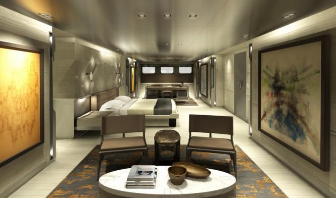 Mega yacht SYBARIS - Master Cabin - Photo by PH Design