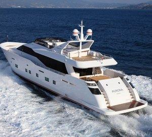 Enjoy chartering the Eastern Mediterranean this summer aboard M/Y Aurora