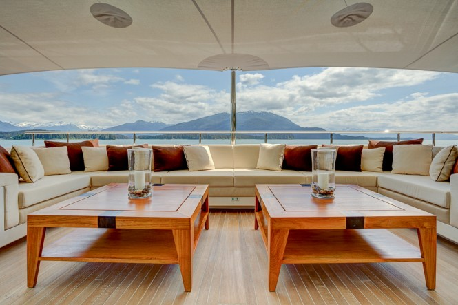 PARTY GIRL from Icon Yachts - Upper deck lounge area
