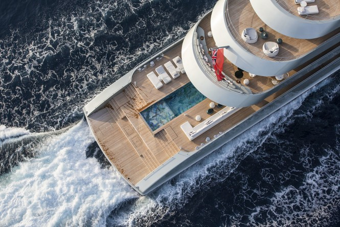 Motor Yacht Savannah by Feadship - Helicopter View - Photo by Jeff Brown