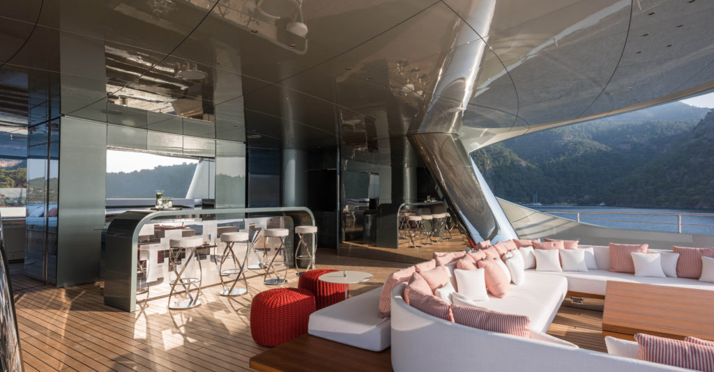 Yacht Savannah By Feadship U2013 Outdoor Bar On Location In The Turkey U2013  Photography By Jeff Brown