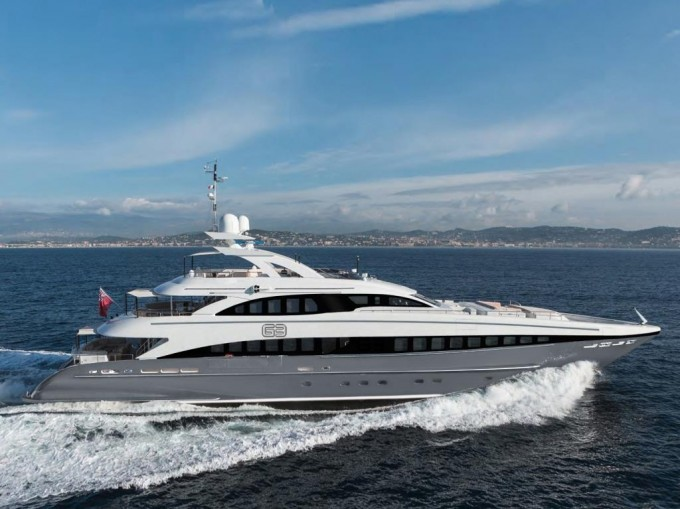 44m Heesen yacht G3 available for charter in the Med