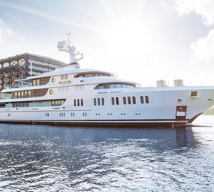 Lurssen Officially Announces Launch of 74m mega yacht AURORA