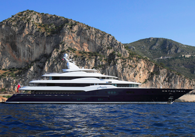 78m superyacht Amaryllis available for charter in the Caribbean and Bahamas this summer