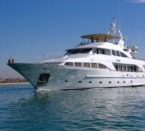 Superyacht DXB available for Mediterranean charter to the Monaco Grand Prix and Cannes Film Festival