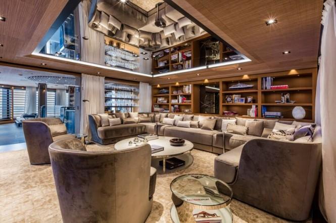 Mega yacht SUERTE - Saloon by Margherita Casprini
