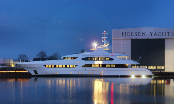Superyacht ASYA by Heesen. Image credit: Dick Holthuis