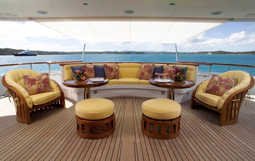 Superyacht HUNTRESS - Main deck aft