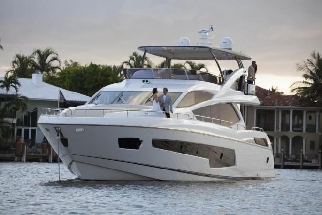 2017 build MOWANA - A Sunseeker 75 open yacht. Photo credit: Sunseeker