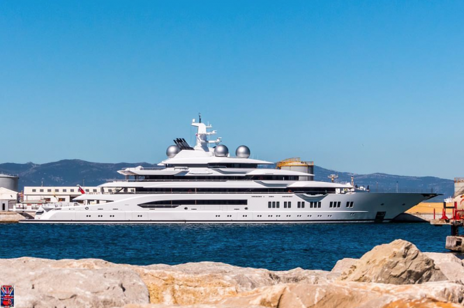 Amadea spotted in Gibraltar. Photo Credit @superyachts_gibraltar