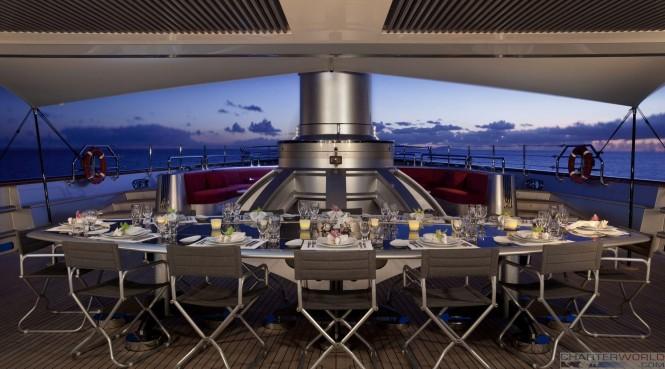Great dining aboard Maltese Falcon