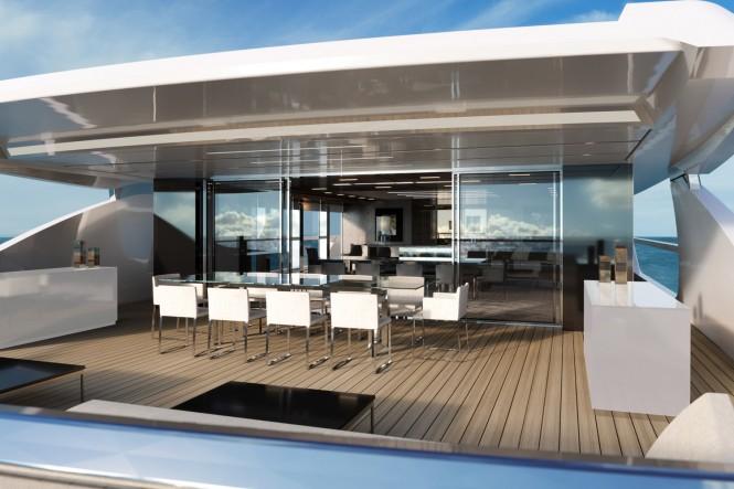 Luxury yacht SEVEN SINS - Alfresco dining