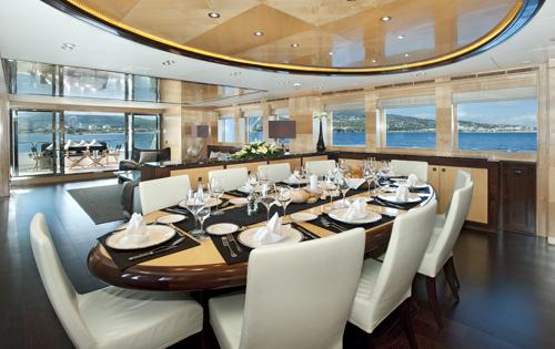 Motor yacht CHRISTINA G - Formal dining