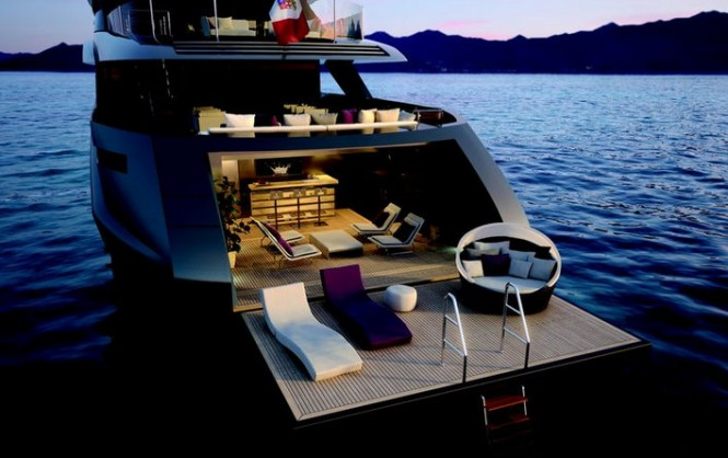 Motor yacht SARASTAR - Beach club