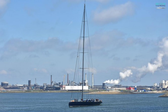 Sailing yacht Ngoni sails for the first time. Photo Credit Jan Ramaker
