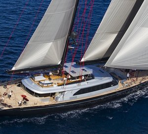 Charter 60m/197ft sailing yacht Seahawk in the South Pacific from June