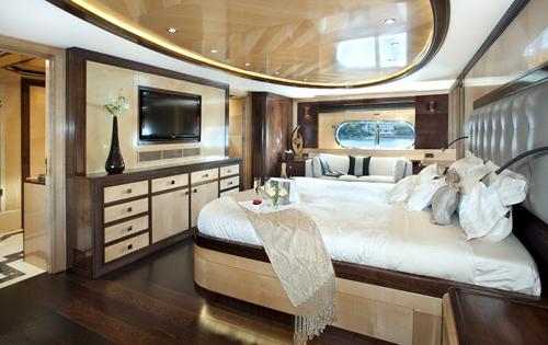 Superyacht CHRISTINA G - Master suite