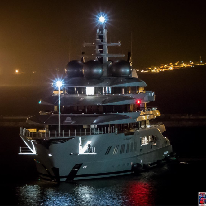 yacht Amadea in Gibraltar. Photo credit @superyachts_gibraltar