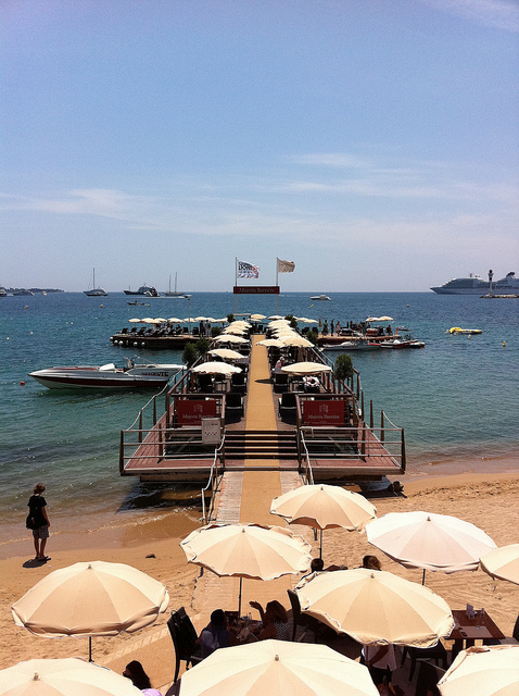 A pop-up meeting space at Cannes Lions. Photo credit: Digitas Photos