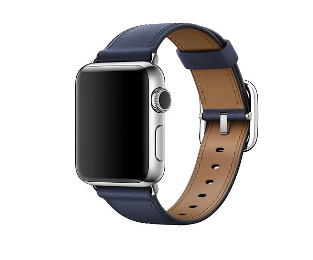Apple Watch Hermès - 38mm Bleu Agate Epsom Leather Single Tour