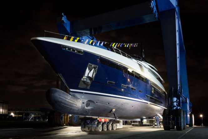 Close up: Motor yacht N2H at Rossi Navi