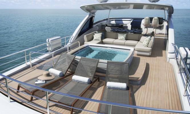 Flybridge aboard luxury yacht KOHUBA