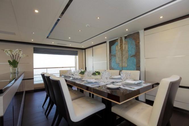 Luxury yacht SKYLER - Formal dining