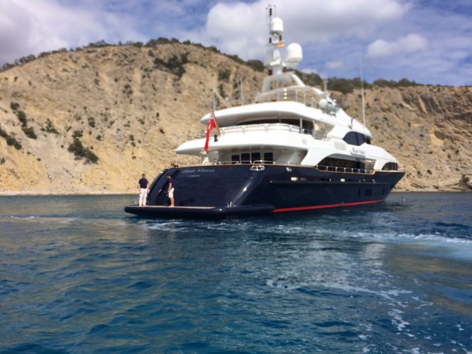 MY Blue Vision available for charter in Spain. Photo credit CharterWorld