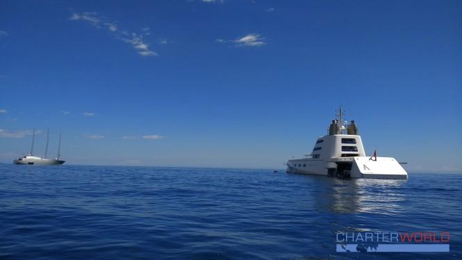 S.Y A and M.Y A in Monaco. Photo credit Nicolas Benazeth.CharterWorld