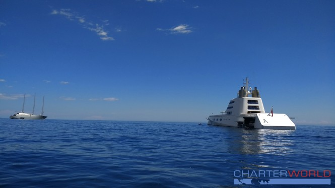 SY and MY A in Monaco - Photo credit NicolasBenazeth-CharterWorld