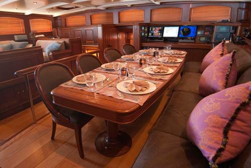 Sailing yacht ATHOS - Formal dining and salon