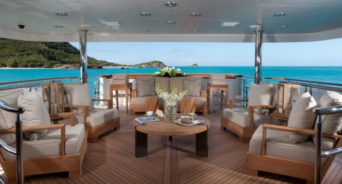 Superyacht IMPROMPTU - Main aft deck lounging