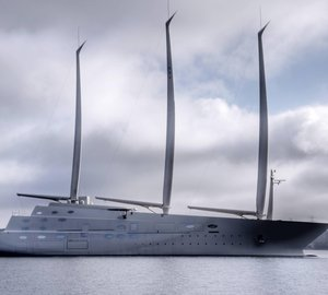 In Pictures: Melnichenko's Sailing Yacht A Arrives in Italy