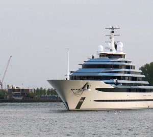 110m Mega Yacht Jubilee Returns from Sea Trials
