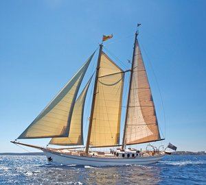 Traditional sailing yacht Silver Spray available for charter in the Mediterranean