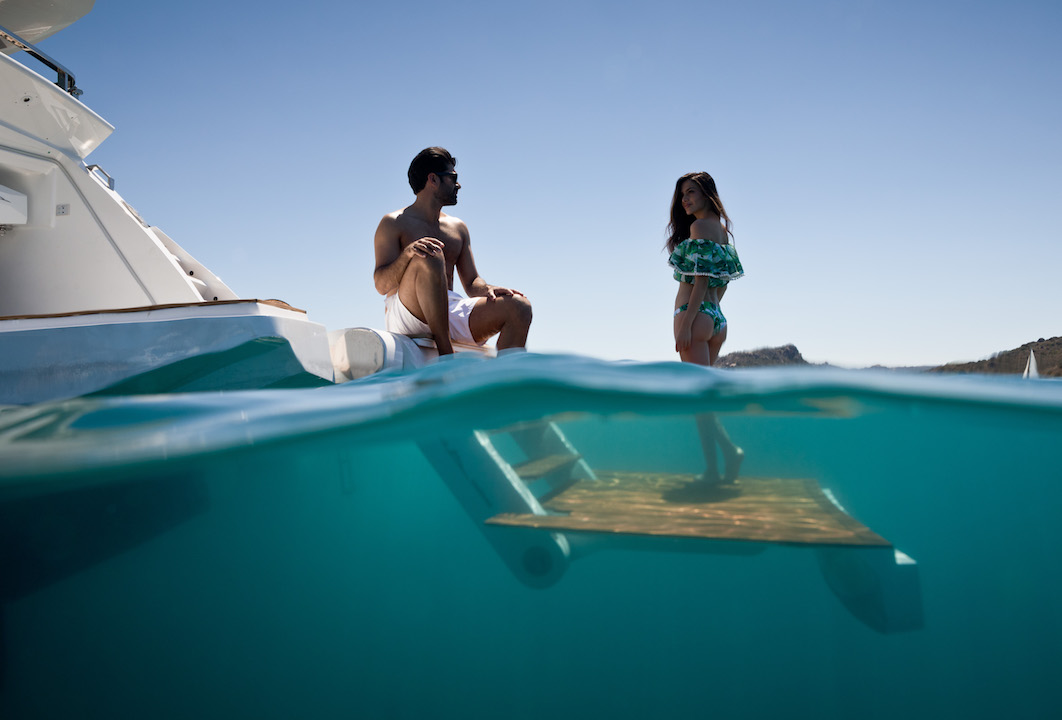Enjoy The Superyacht Lifestyle On Beach Platform Kalliente Photo
