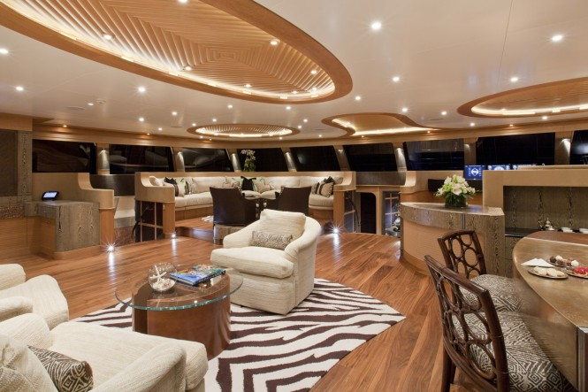 Luxury catamaran HEMISPHERE - Main salon