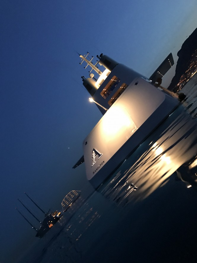 Luxury mega yacht A Monaco May 2017 - Photo credit Sam Malins