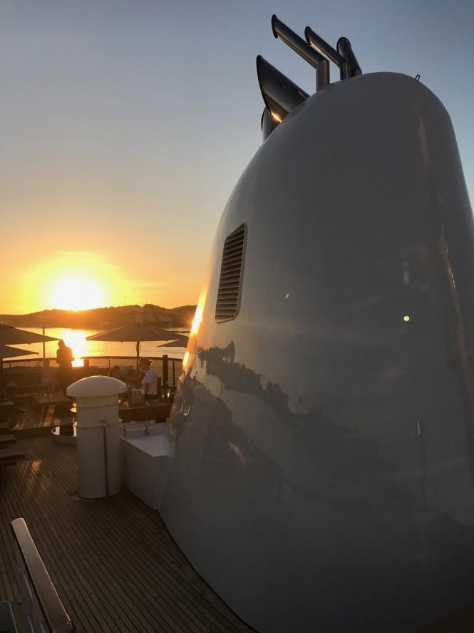MENORCA - sunset on aft deck - Photo credit Mare e Terra