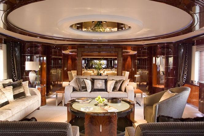 Mega yacht Talisman Maiton - Main salon. Photo credit Proteksan Turquoise