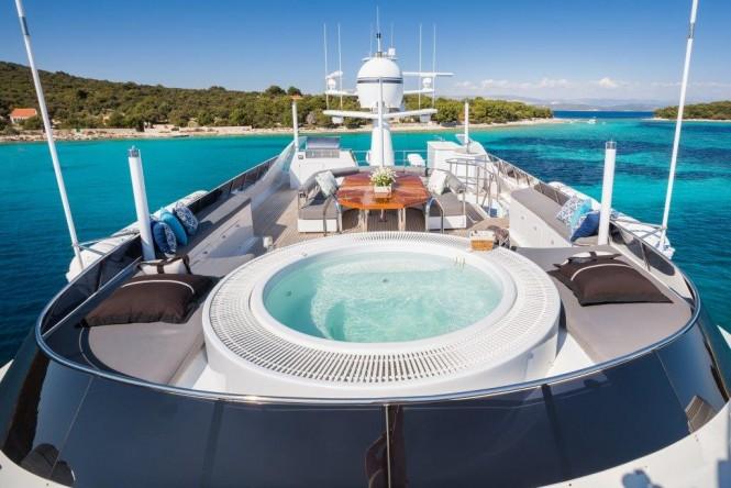 Motor yacht BRAZIL - Sundeck view aft