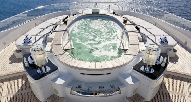 PHOENIX 2 pool and jacuzzi with sun pads - Photo credit Lurssen
